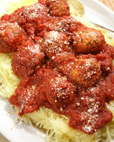 In this clever variation on the classic dish, tender strands of spaghetti squash replace the traditional pasta.