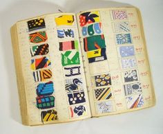 French swatch book from a fabric mill in France that made printed and shirting fabrics for Lanvin, Givenchy, Balmain, Molyneux, and Carven. c.60-70s.