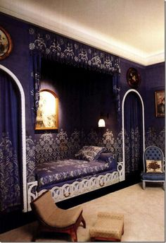 Jeanne Lanvin, Art Deco apartment in 16 rue Barbet de Jouy, in Paris, decorated by Armand-Albert Rateau.