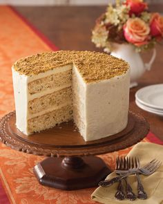 Get the recipe for Southern Lady Magazine's Pistachio Cake with Honey Buttercream.