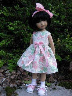 "SOFTLY PINK  made to fit 13"" Little Darling Effner Vinyl doll by Darla"