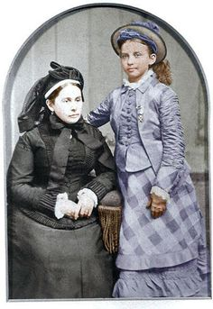 Mary Anna Jackson, widow of Stonewall Jackson, with daughter Julia.