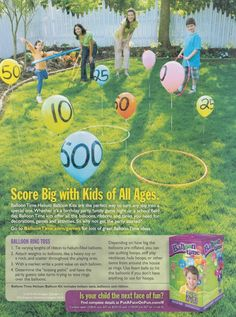 balloon ring toss - Google Search