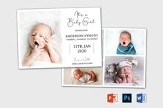 Birth Announcement Template | Newborn Announcement template | Birth announcement card | Birth announcement printable | Baby Announcement It's A Boy Announcement, Birth Announcement Template, Youth Group Activities, Youth Groups, Family Reunion Games, Family Reunions, Summer Camp Games, Cookbook Template, Card Making Templates
