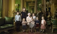 Queen Elizabeth II is turned 90 on April 21st, 2016. To celebrate the milestone, photographer Annie Leibovitz captured the Queen in three new iconic images.  The first shows her with her five great-grandchildren and two youngest grandchildren, Prince George and Princess Charlotte, at Buckingham Palace.