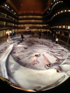 French artist JR collaborates with NYCB in their second annual Art Series. (photo by Spencer Elzay)