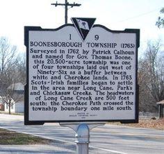 Boonesborough Township (1763) Marker Photo, Click for full size