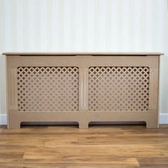 This stunning radiator cover is expertly crafted and comes unfinished meaning you can paint it any colour to match your decor. Not only is this produc Hide Water Heater, Victorian Radiators, Victorian Hall, Mdf Cabinets, Kerosene Heater, Vertical Radiators, Vida Design, Designer Radiator, Bathroom