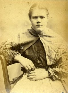 Mugshot: Margaret McCann (aged 24). Sentenced to 6 months in prison for stealing money. ca. 1870s.