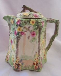 Royal Winton Rose Trellis Hot Water Pot 1934 Cottage Ware