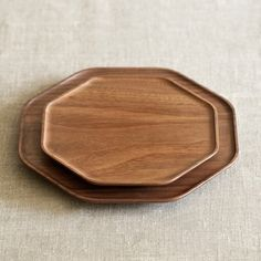 The octagonal Kakudo plate is made of walnut, known for its rich color.  The unique shape stands apart from your everyday round or square plates, making each meal just a little more delightful