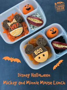 Lunchbox Dad: Halloween Mickey and Minnie Mouse Ears Lunch