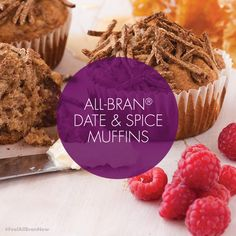 Kellogg's All-Bran S. added 5 new photos to the album: Recipes. All Bran, Recipe Images, Muffins, Spices, Baking, Live, Breakfast, Health, Desserts