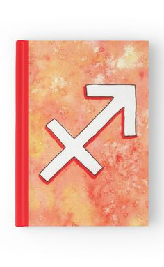 """Zodiac sign : Sagittarius"" Hardcover Journal by Savousepate on Redbubble #hardcoverjournal #journal #notebook #stationery #astrology #astrologicalsign #zodiacsign #sagittarius #red #orange #yellow #white #watercolorpainting"