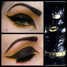 Batman inspired eye makeup Halloween idea?