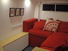 Lounge in stealth Sprinter conversion