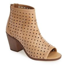 Kelsi Dagger Brooklyn 'Kyoto' Perforated Leather Peep Toe Bootie, 2... (2300610 BYR) ❤ liked on Polyvore