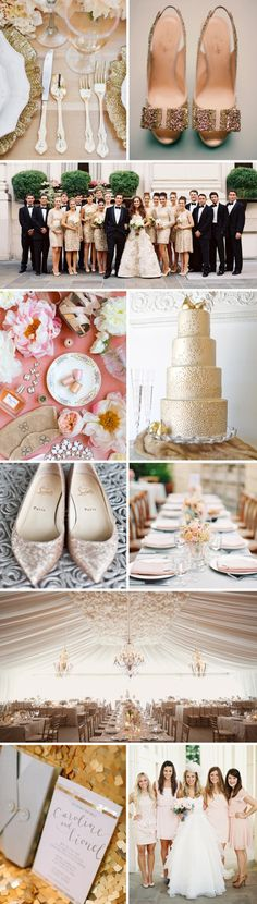 Wedding Trends 2013-Gold & Glitter...damn I didn't know this was a trend.