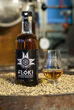 Flóki - Icelands first Single Malt Whisky. Produced from organically grown Icelandic Barley, casked and bottled in Iceland.