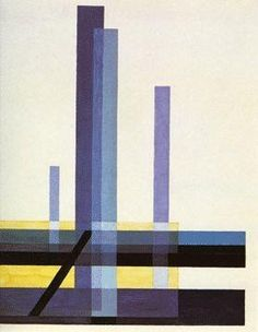 """Moholy Nagy,: Composition C XII. 1924. // """"At the turn of the years 1921-22 Moholy-Nagy's simultaneous discovery of the crystalline beauty of Malevich's works and Adolf Behne's theory of glass architecture gave birth to his paintings of glass architecture..."""" (Passuth: 25)"""