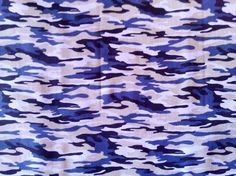 Camouflage fabric with Brown and charcoal blue tones. Alternative camouflage pattern, 100% cotton. Super trendy.  -1 yard-