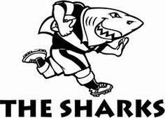 One of the most known South African rugby union teams, the Sharks have a fun and memorable logo, which has stayed with the team since it was officially founded. Rugby Union Teams, South African Rugby, Union Logo, Durban South Africa, Rugby Sport, Shark Logo, Super Rugby, Team Mascots, Xmas