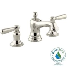 Widespread 2 Handle Bathroom Faucet In Vibrant Brushed Nickel | Bathrooms  Remodel | Pinterest | Faucet, Brushed Nickel And Bath