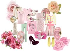 """""""Pink for October"""" by mytrollbeads on Polyvore"""