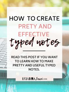 Want to learn how to make pretty and useful typed notes? Well look not further because this post takes a deep dive at how to acive beautiful and effective notes. college, notes, study, college study, college note-taking, taking notes, lecture, tips, college tips, how-to, typed notes, ipad notes, digital notes, organization, school, online school
