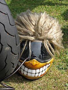 Hairy-Motorcycle Helmet