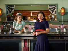 Just two gals, trying to bring down the patriarchy, looking fly. | 17 Times Agent Peggy Carter's Outfits Were So Good It Actually Hurt