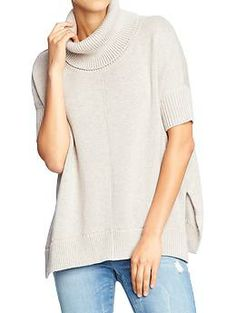 Womens Cap-Sleeve Cowl-Neck Sweaters - mmm... cozy, warm, cute and comfy all in one!