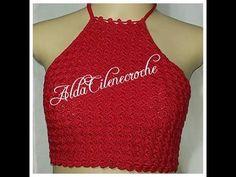 Top/crooped Tombadinho crooped com passo a passo #AldaCileneCroche Crochet Summer Tops, Crochet Crop Top, Crochet Blouse, Top Tejidos A Crochet, Crop Top Pattern, Bikinis Crochet, Dressy Tops, Crochet Videos, Crochet Designs