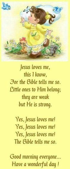 Jesus loves me! Thank You, Jesus! Bible Scriptures, Bible Quotes, Biblical Quotes, Scripture Verses, Tips & Tricks, Jesus Loves Me, Christen, Christian Quotes, Christian Songs