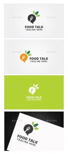 Buble olabilir mi? Konuşma baloncuğu  Food Talk Logo Template - Food Logo Templates