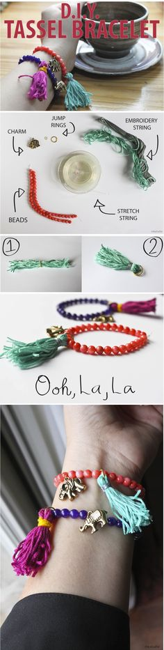 DIY Tassel bracelet-DIY Bracelet Tutorials – Easy to Make