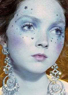 """Face charms. Lily Cole in """"So Poetic"""" for Vogue Italia, August 2005—shot by Miles Aldridge."""
