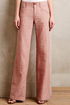 Pilcro Linen Trousers - anthropologie.com