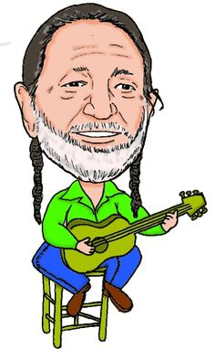 Caricature of country music legend Willie Nelson.  Check out the rest of my celebrity caricatures at www.daffydoodles.com.