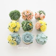Flower buttercream cupcake