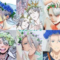The beautiful man with flower crowns ☆ ☆ ☆ ☆ ☆ ☆ ☆ ☆ ☆ ☆ ☆ ☆ ☆ ☆ ☆ ☆ ☆ ☆ ☆ #yurionice #victor #victornikiforov #nikiforovviktor #iceskate #skate #yoi #yuuri #victuri #katsukiyuuri #katsuki #plisetskyyuri #plisetsky #yurio #yuri #katsukiyuuri #altinotabek #altin #otabek #ユーリ #ユーリonICE #figureskating #boy #snow #ice