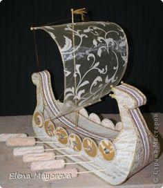 Cantinho craft da Nana: barco viking de isopor