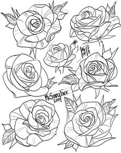 Stencils Tatuagem, Tattoo Stencils, Graffiti Tattoo, Graffiti Lettering, Flower Tattoo Designs, Flower Tattoos, Tattoo Sketches, Tattoo Drawings, Traditional Tattoo Flowers