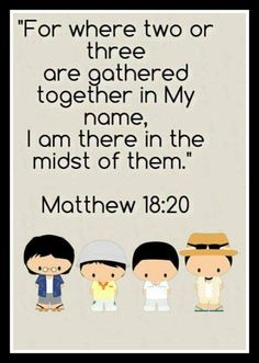 Matthew 18:19-20 Again I say unto you, That if two of you shall agree on earth as touching any thing that they shall ask, it shall be done for them of my Father which is in heaven. Together we are stronger... We need one another, support with love and prayer, lets be the light in the middle of the darkness of this world...God Bless you all.