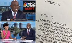 Anchor says 'Check your PANTIES' on-air due to teleprompter typo #DailyMail | These are some of the stories. See the rest @ http://www.twodaysnewstand.com/mail-onlinecom.html or Video's @ http://www.dailymail.co.uk/video/index.html And @ https://plus.google.com/collection/wz4UXB
