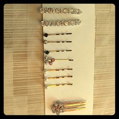 Swarovski crystals and pearl hair accessories Fancy crystal and pearl bobby pins set. Swarovski Accessories Hair Accessories