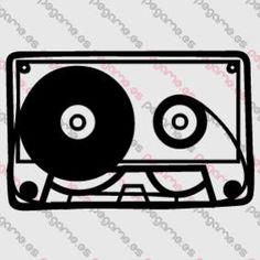 Pegame.es Online Decals Shop  #music #sound #casette #record #magnetic #analog #90 #cassette #retro #vinyl #sticker #pegatina #vinilo #stencil #decal