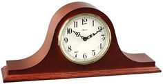 The Hermle Sweet Briar Classic Cherry Quartz Mantel Clock is designed in the classic tambour clock style. Featuring an ivory colored dial with black Arabic numerals, this piece is outfitted with a quartz dual-chime movement that plays either Westminster or Bim Bam chimes that features volume control and personalized night time shut off. Lightweight and easily portable from http://www.theisenclock.com/mantel_clock.html