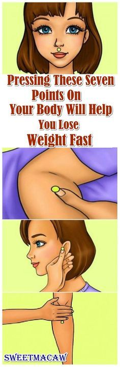 There are a lot of points in our body which can accelerate our metabolism and help us lose weight very fast. His can be done through acupressure as every