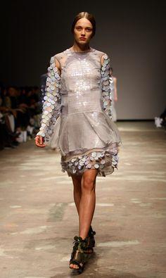 London Fashion Week, Fall 2008: Christopher Kane Textured fashion